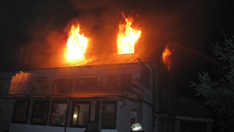 Brennt Obergeschoss in Trier