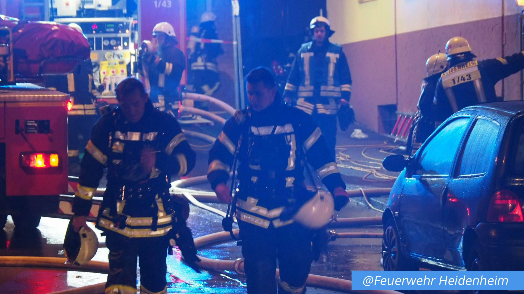 Gebäudebrand Heidenheim