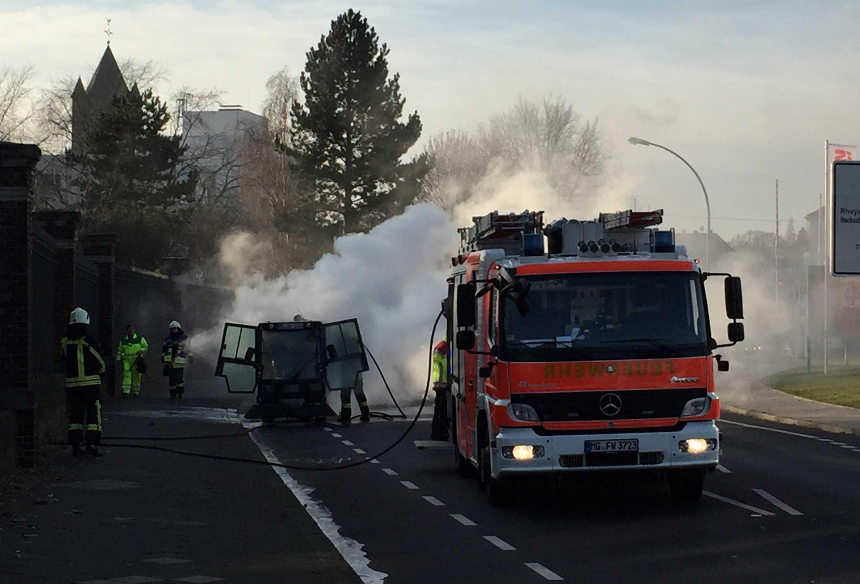 Mönchengladbach Kehrmaschinenbrand