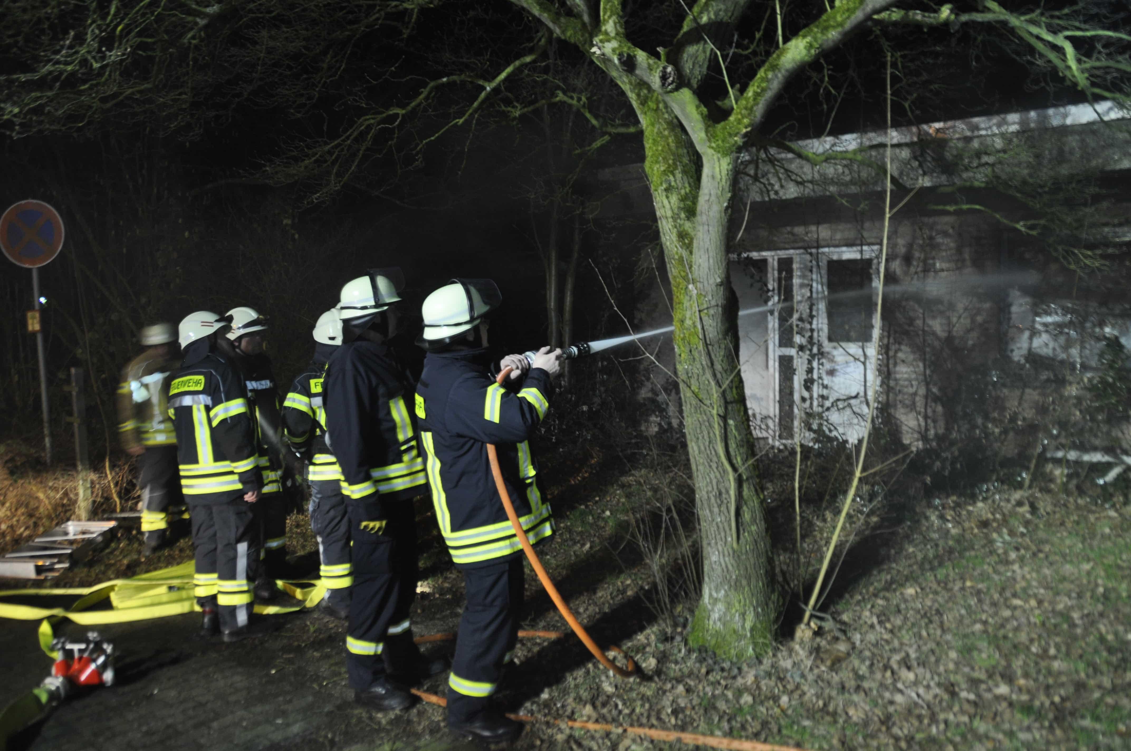 Brand Anbau Feuerwehrhaus Hasselt