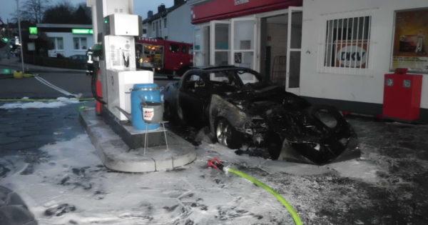 Brand auf Tankstelle in Wetter (Ruhr)