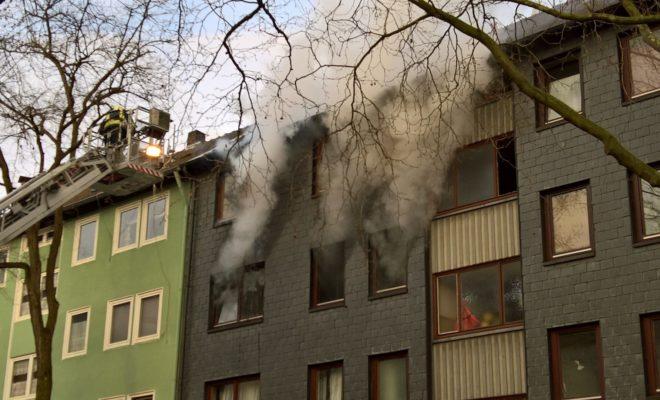 Wohnungsbrnad Gewerkenstrasse