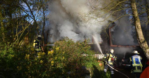 Gebäudebrand Drage