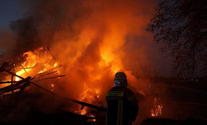 Großbrand am Bodensee